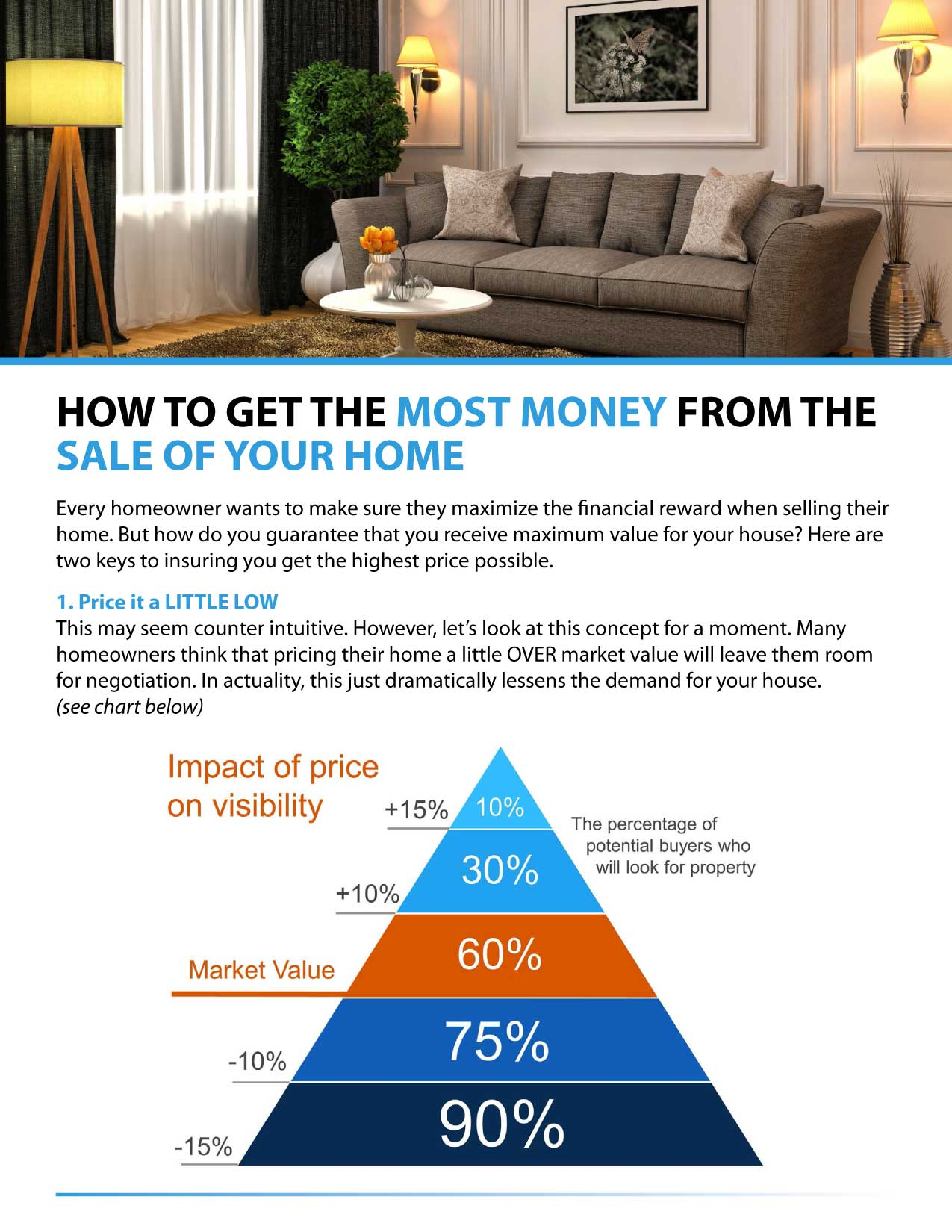 HOW TO GET THE MOST MONEY FROM THE SALE OF YOUR HOME